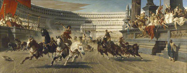 von Wagner, Alexander, 1838-1919; The Chariot Race
